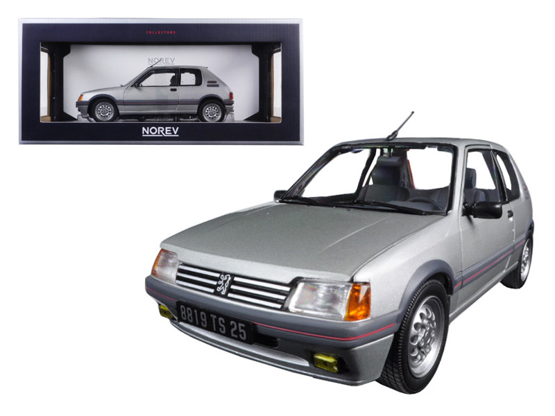 1988 Peugeot 205 Gti 1.6 Futura Grey 1/18 Diecast Model Car Norev 184852