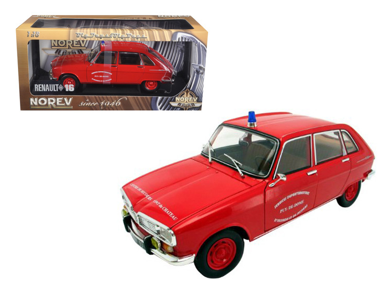 Renault 16 Diecast Model French Fire 1/18 Diecast Model Car Norev 185126