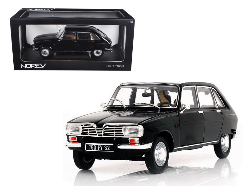 1967 Renault 16 Black 1/18 Diecast Car Model Norev 185129