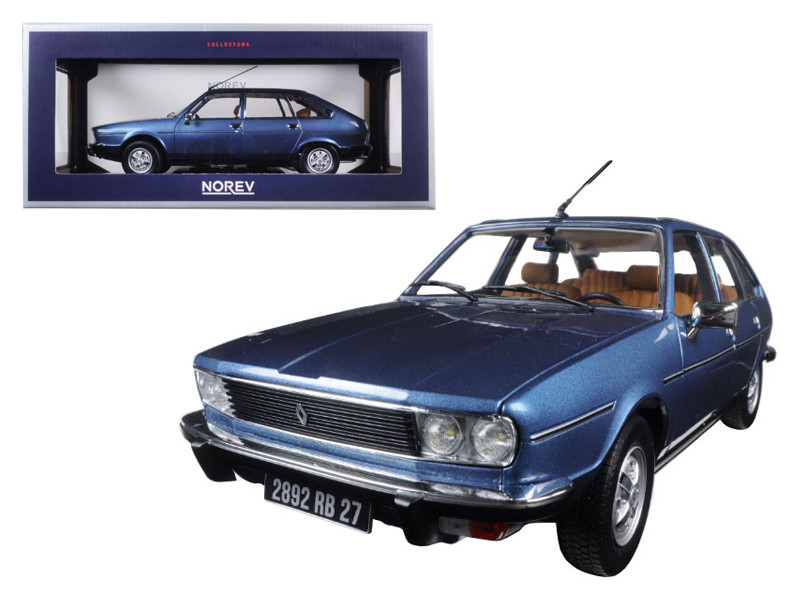 1978 Renault 30 TS Ardoise Blue Metallic 1/18 Diecast Model Car by Norev