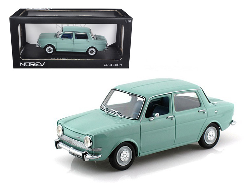 1974 Simca 1000 LS Arctic Blue 1/18 Diecast Car Model Norev 185712