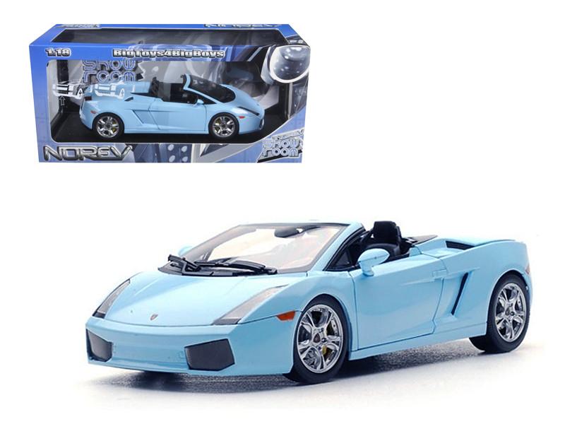Lamborghini Gallardo Spyder Baby Blue 1/18 Diecast Car Model Norev 187951