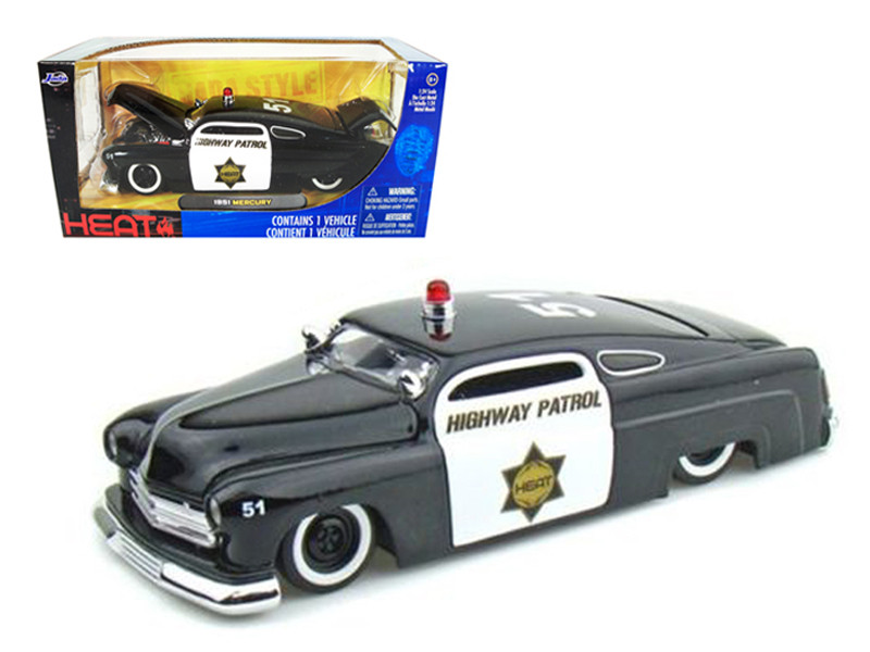 1951 Mercury Police 1/24 Diecast Model Car by Jada