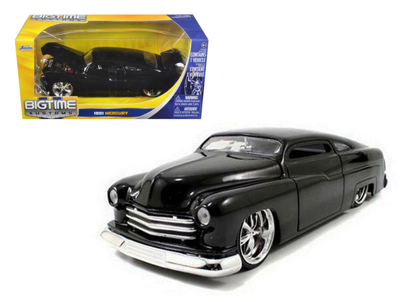 1951 Mercury Black With KMC Wheels 1/24 Diecast Model Car by Jada