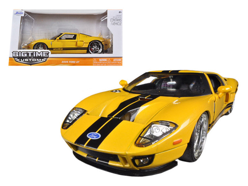Ford Gt Yellow  Cast Car Model Jada