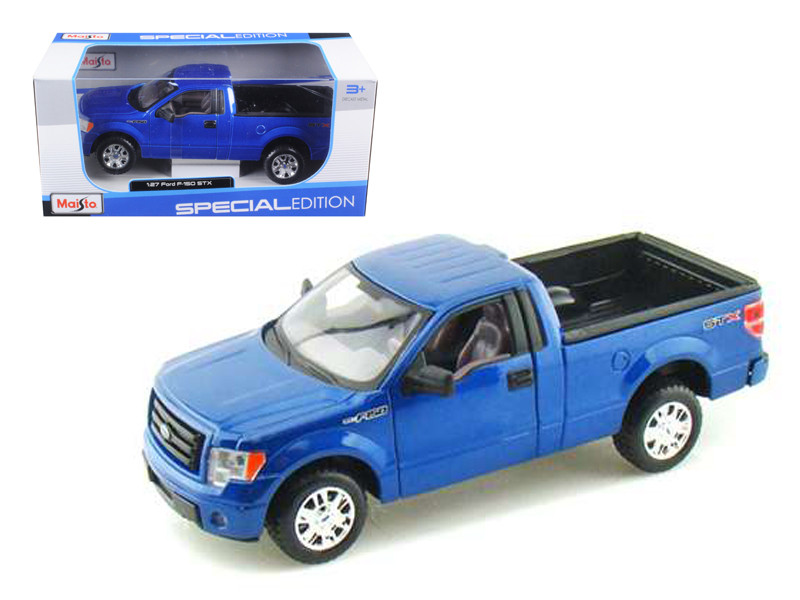 2010 Ford F-150 STX Pickup Truck Blue 1/27 Diecast Model Maisto 31270