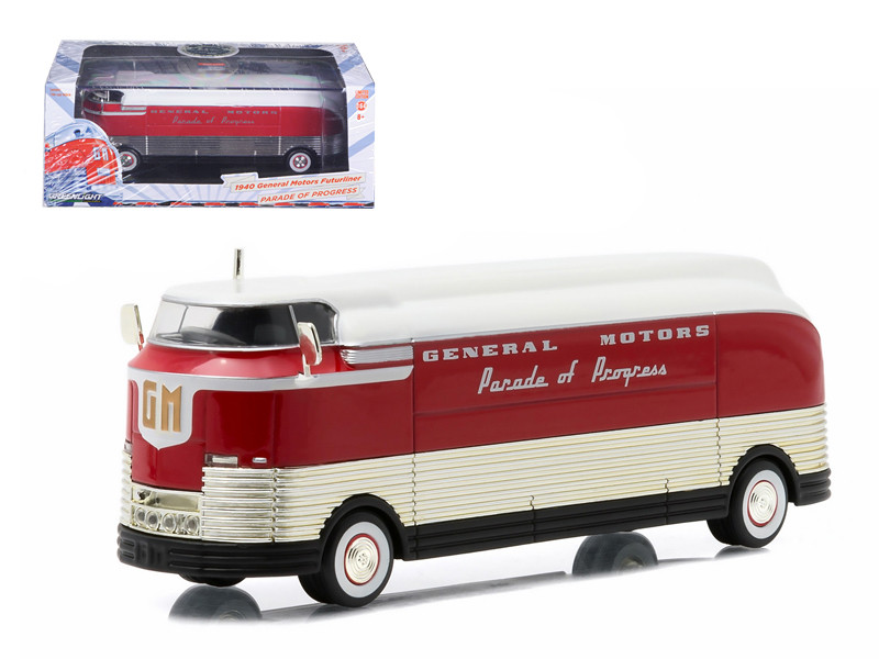 "1940 General Motors Futurliner ""Parade of Progress"" Hobby Exclusive 1/64 Diecast Model Greenlight 29832"