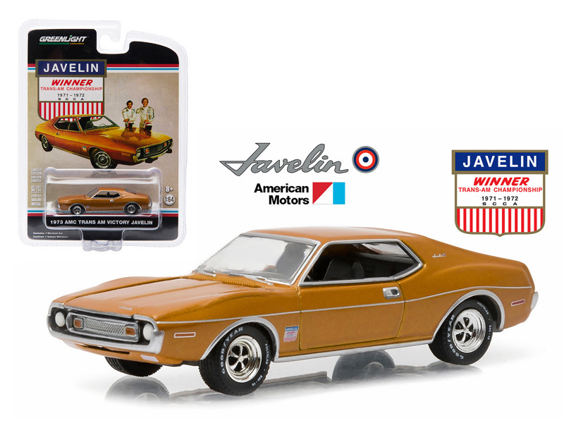1973 AMC Javelin Trans Am Victory Edition Hobby Exclusive in Blister Pack 1/64 Diecast Model Car by Greenlight