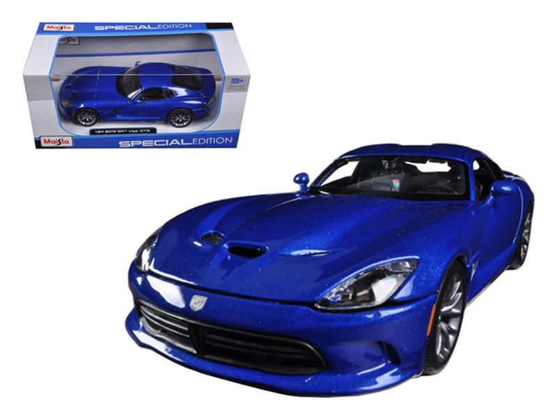 2013 Dodge Viper SRT GTS Blue 1/24 Diecast Car Model by Maisto