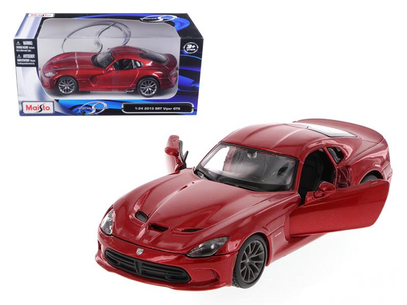 2013 Dodge Viper SRT GTS Metallic Red 1/24 Diecast Model Car by Maisto