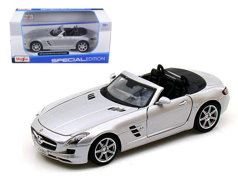 Mercedes SLS AMG Roadster Silver 1/24 Diecast Model Car by Maisto