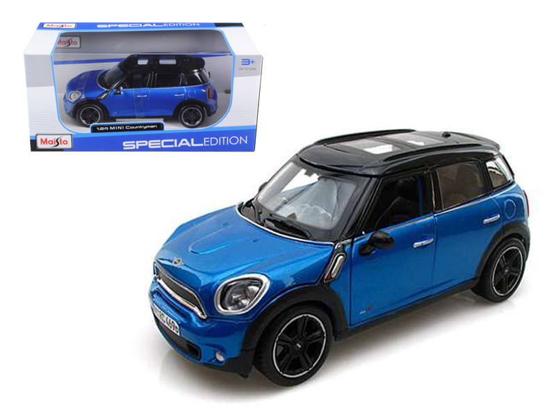 Mini Cooper 4dr Countryman Blue 1/24 Diecast Model Car Maisto 31273