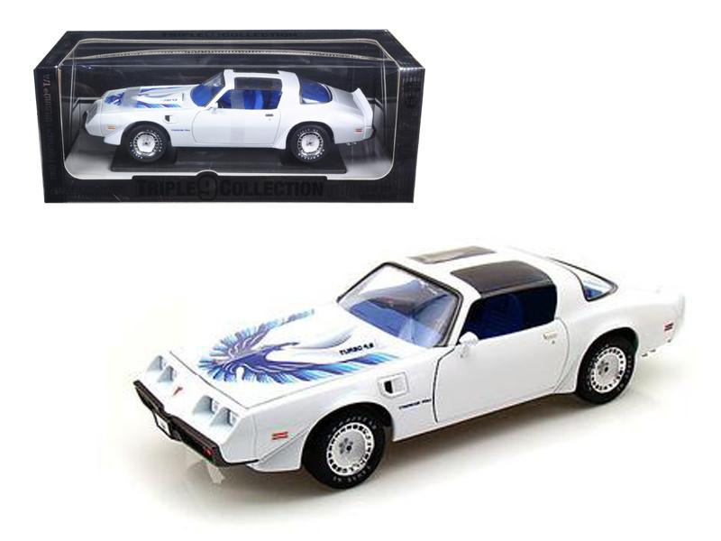 1980 Pontiac Firebird Trans Am White Triple 9 Collection 1 of 999 Produced Worldwide 1/18 Diecast Model Car Greenlight 50831