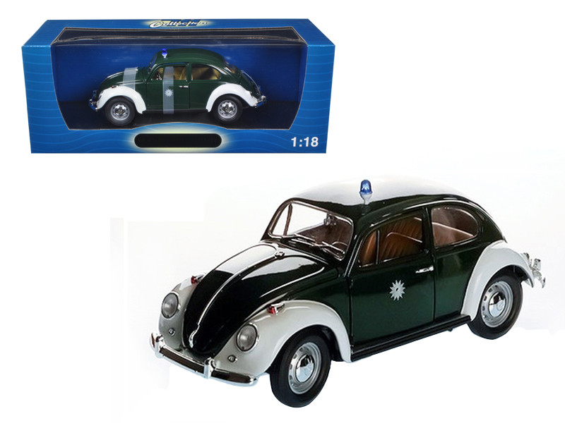 1967 Volkswagen Beetle Kafer Stuttgart Germany Police Car 1/18 Diecast Model Car Greenlight 71101