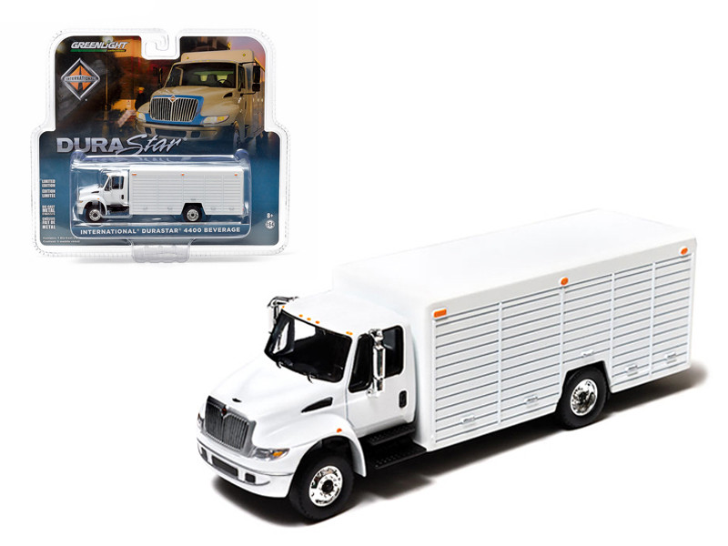 2012 International Durastar 4400 Beverage Truck White In Blister Pack 1/64 Diecast Model Greenlight 29776