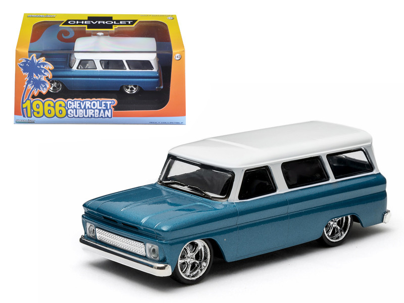 1966 Chevrolet Suburban Blue 1/43 Diecast Model Car Greenlight 86059
