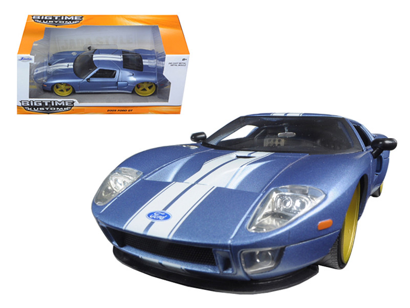 Ford Gt Blue  Cast Model Car Jada