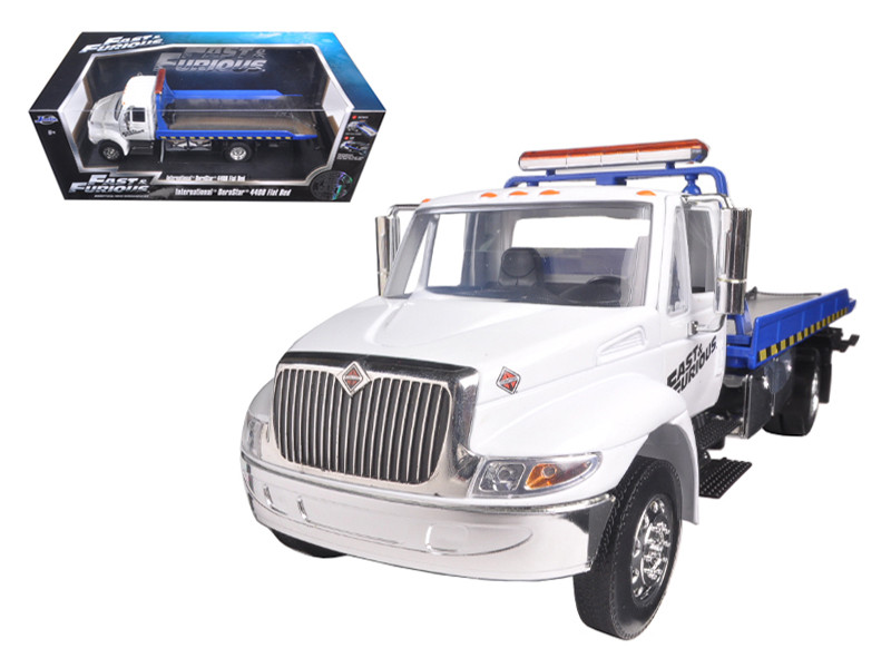 """Fast & Furious 7"" International Durastar 4400 Flat Bed Tow Truck 1/24 Diecast Model Jada 97218"