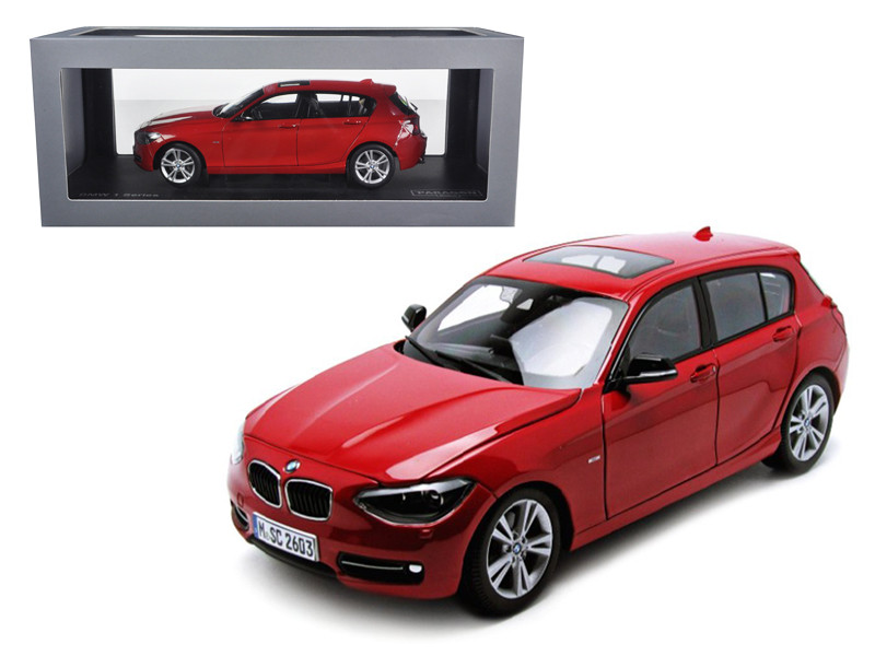 BMW F20 1 Series Red 1/18 Diecast Car Model Paragon 97004c