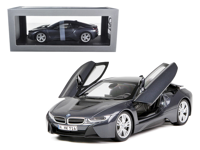 BMW i8 Sophisto & Frozen Grey 1/18 Diecast Model Car Paragon 97082