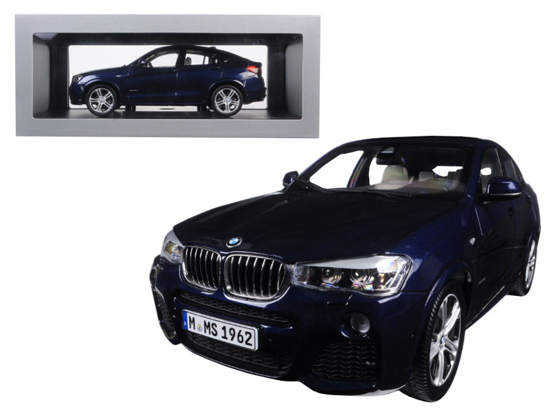 BMW X4 (F26) Imperial Blue 1/18 Diecast Model Car Paragon 97092
