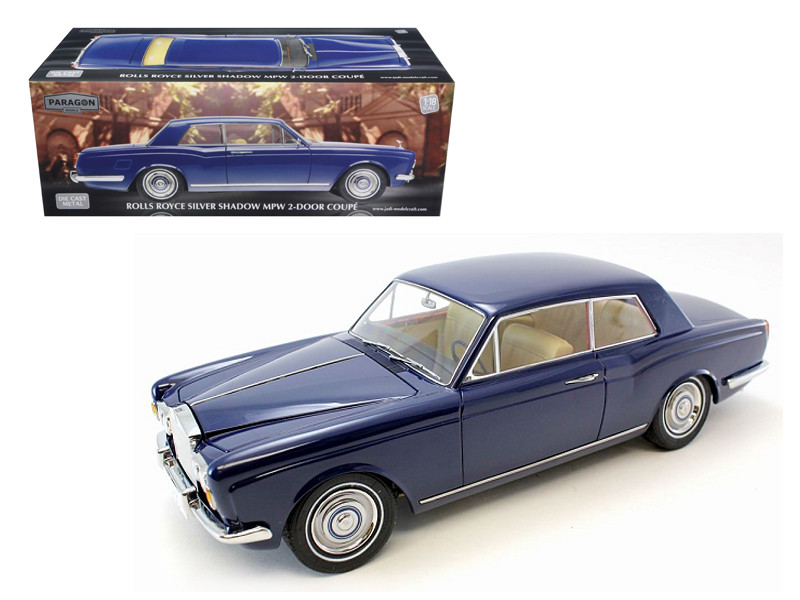 "1968 Rolls Royce Silver Shadow Oxford Blue from Movie ""Thomas Crown Affairs"" Ltd to 3500pc 1/18 Diecast Model Paragon Models 98203"