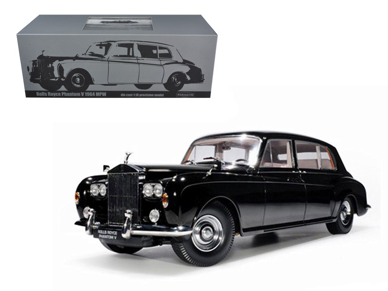 1964 Rolls Royce Phantom V MPW Black 1/18 Diecast Model Car by Paragon