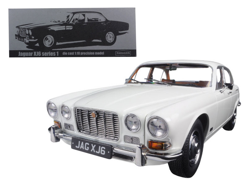 1971 Jaguar XJ6 Series 1 2.8 English White 1/18 Diecast Model Car by Paragon