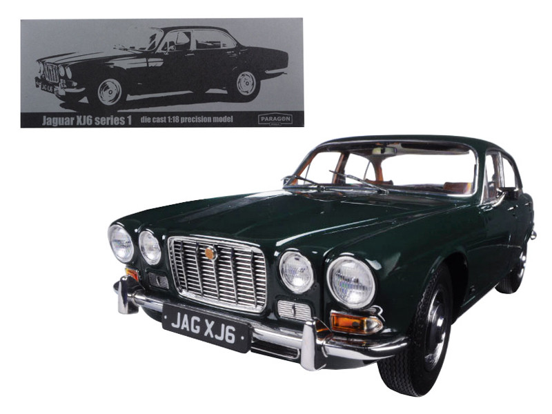 1971 Jaguar XJ6 Series 1 4.2 British Racing Green 1/18 Diecast Model Car by Paragon
