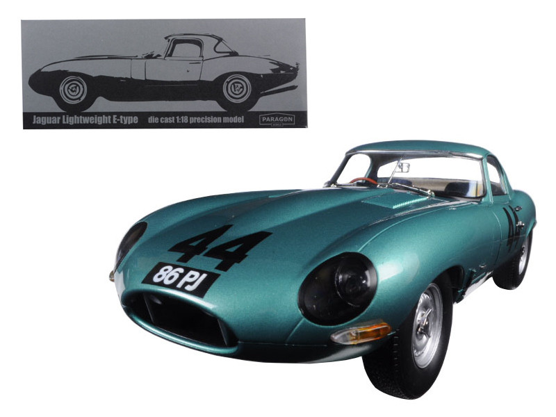 "1963 Jaguar Lightweight E-Type #44 \Arkins 86 PJ"" 1/18 Diecast Model Car by Paragon """""""