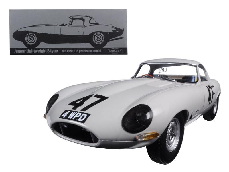 """1963 Jaguar Lightweight E-Type #47 """"Coombs 4 WPD"""" 1/18 Diecast Model Car Paragon 98341"""