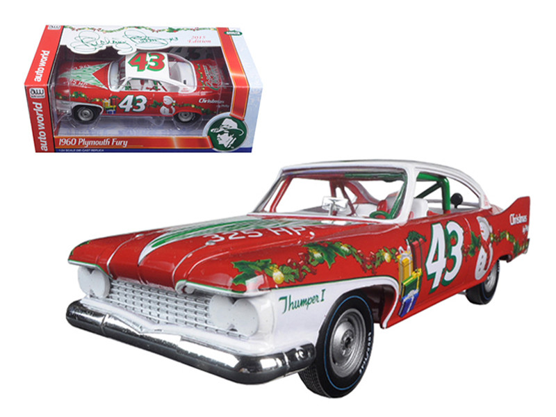 Richard Petty 1960 Plymouth Fury #43 2015 Christmas Edition Limited to 1250pc 1/24 Diecast Model Car Autoworld 24003