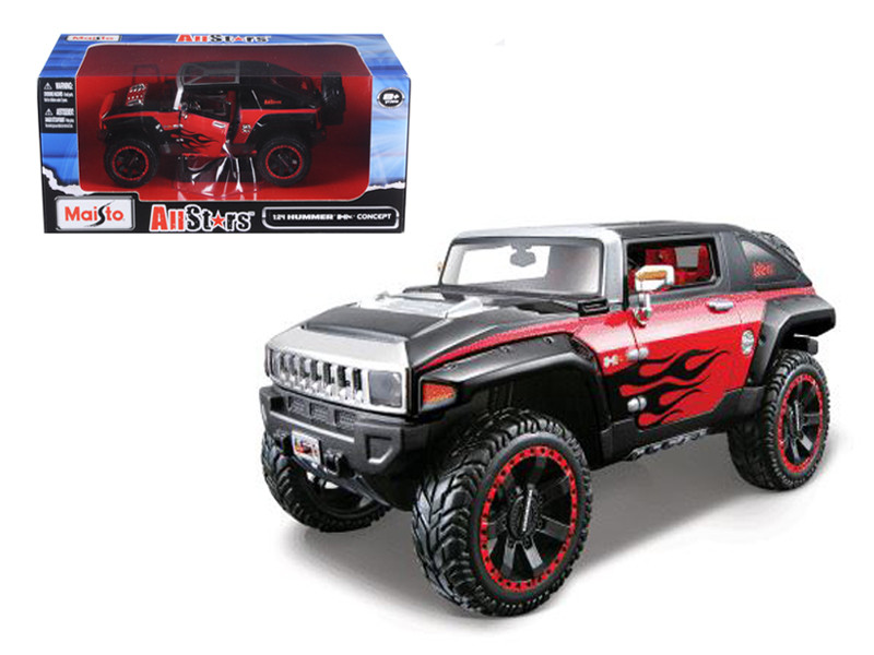 "2008 Hummer HX Concept Black/Red \All Stars"" 1/24 Diecast Model Car by Maisto"""""""