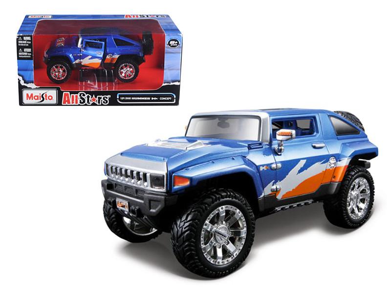 "2008 Hummer HX Concept Blue/Orange/White \All Stars\""1/24 Diecast Model Car by Maisto"""""""