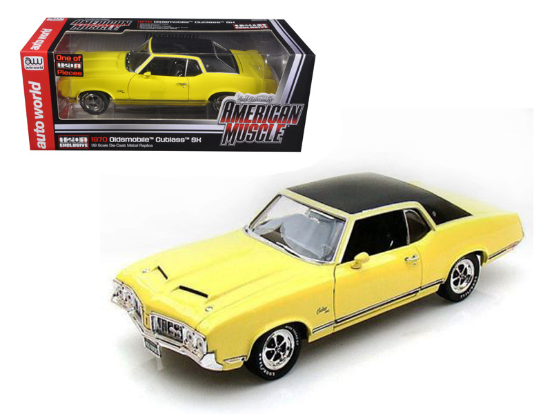 1970 Oldsmobile Cutlass SX Yellow 1201pc Produced Worldwide Exclusive Edition Limited to 1201pc 1/18 Diecast Model Car by Autoworld