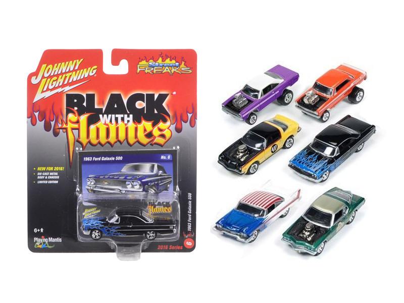 Street Freaks Release 1-B Set of 6 cars 1/64 Diecast Model Car Johnny Lightning JLSF001-B