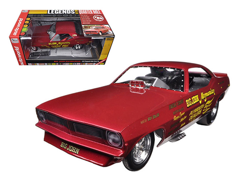 Big John Mazmanian 1972 Plymouth Cuda Funny Car Limited Edition to 750pcs 1/18 Model Car Autoworld AW1166
