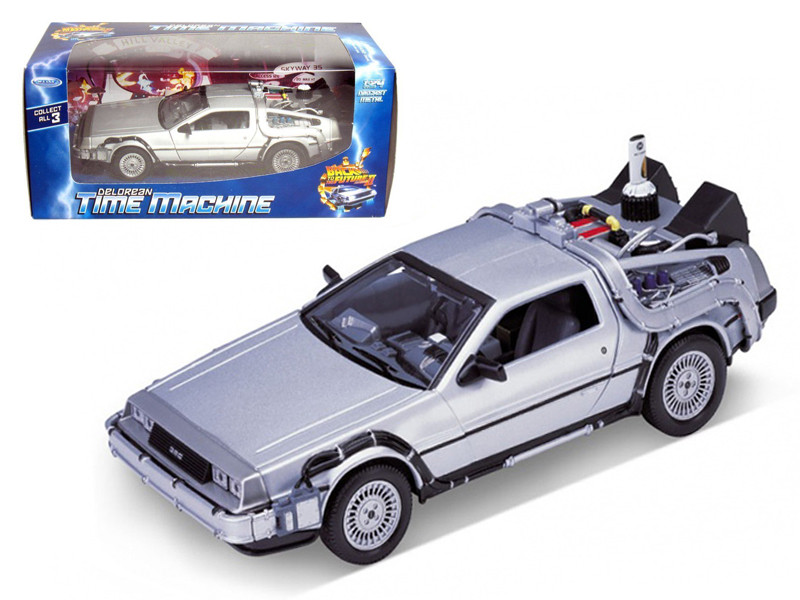 "Delorean From Movie \Back To The Future 2"" 1/24 Diecast Car by Welly"""""""