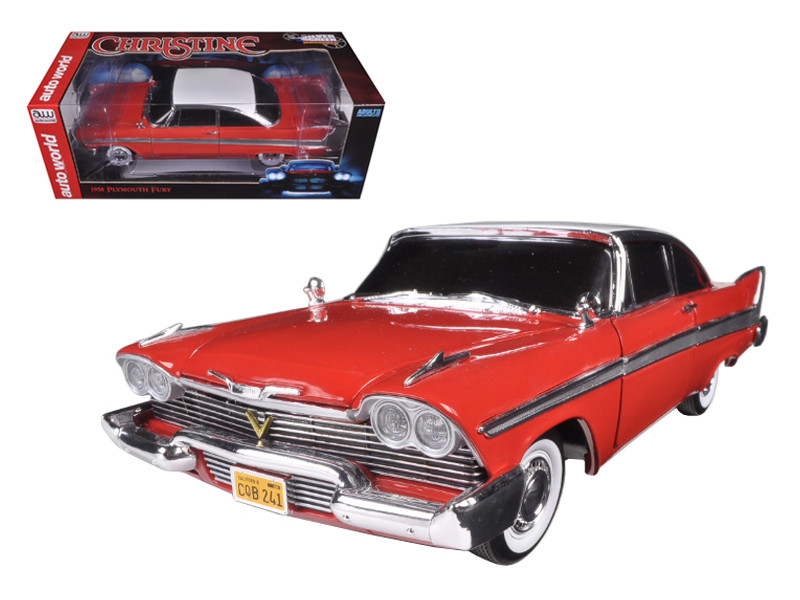 "1958 Plymouth Fury \Christine"" Night Time Version 1/18 Diecast Model Car by Autoworld"""""""