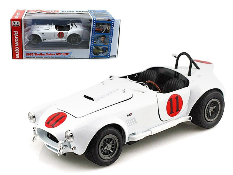 "1965 Shelby Cobra 427 S/C #11 ""Spinout"" Movie Elvis Presley Limited to 2500pc Worldwide 1/18 Diecast Model Car Autoworld AWSS104"