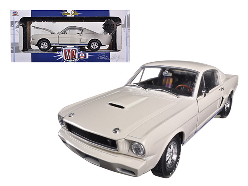 1965 Ford Shelby Mustang GT350R Prototype Wimbledon White 1/24 Diecast Car Model M2 Machines 40300-44A