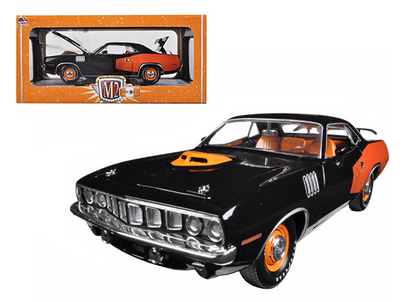 1971 Plymouth Cuda HEMI Black 50th Anniversary 1/24 Diecast Model Car M2 Machines 40300-46B