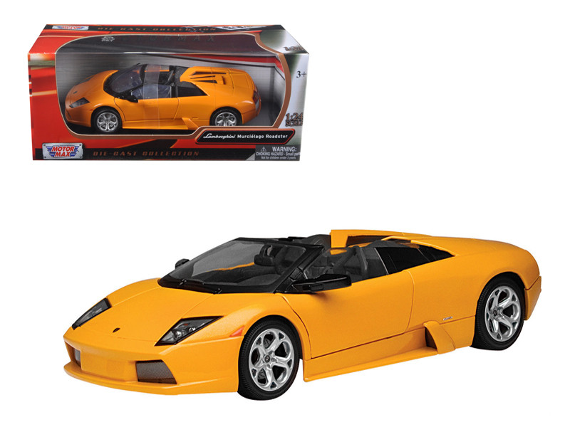 Lamborghini Murcielago Roadster Orange 1/24 Diecast Model Car Motormax 73316