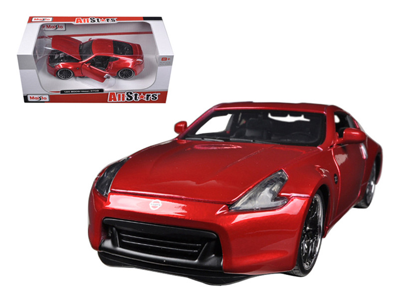 2009 Nissan 370Z Metallic Red 1/24 Diecast Car Model by Maisto
