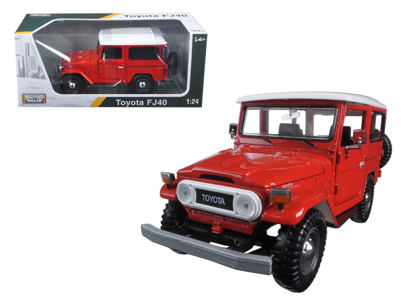 Toyota FJ40 Red 1/24 Diecast Model Car by Motormax