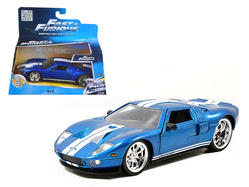 Ford Gt Blue Fast Furious Movie  Cast Model