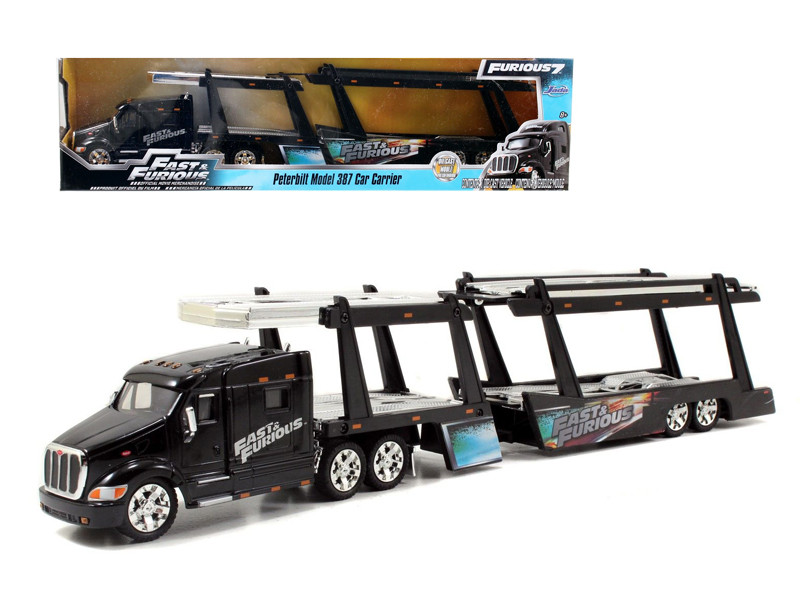 "Peterbilt 387 Car Carrier "" Fast & Furious"" 1/64 Jada 97071"