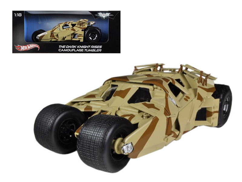 "\The Dark Knight Rises"" Batmobile Tumbler Camouflage 1/18 Diecast Car Model by Hotwheels"""""""