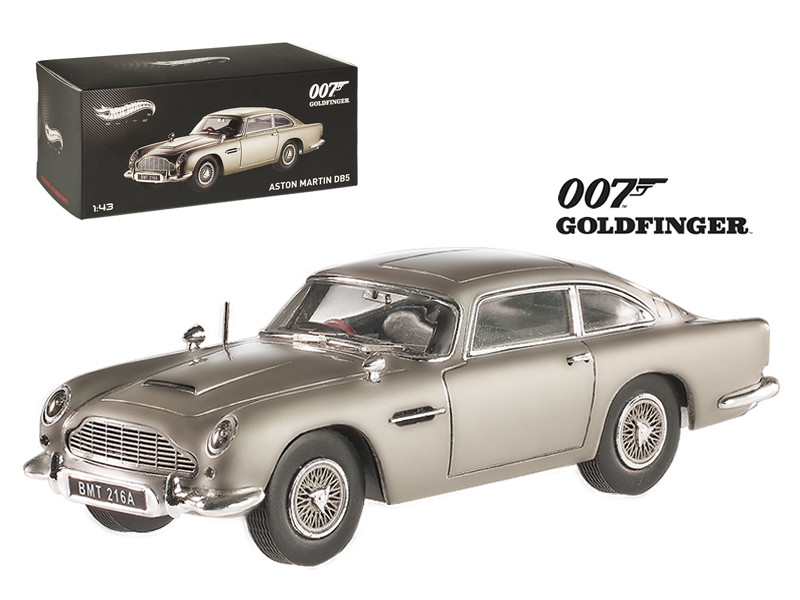 "Aston Martin DB5 Elite Edition James Bond 007 \Goldfinger\"" Movie 1964 1/43 Diecast Model Car by Hotwheels"""""""