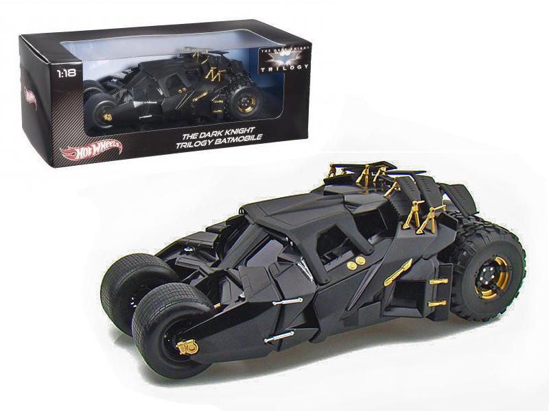 """The Dark Knight"" Trilogy Movie Batmobile Tumbler 1/18 Diecast Model Car Hotwheels BMH74"